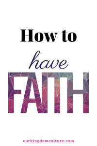 What is faith and how to increase it.