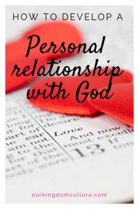 Developing a relationship with God