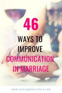 Effective Communication in your Marriage.