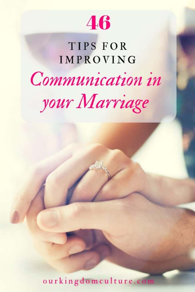 Tips for improving Communication in your Marriage