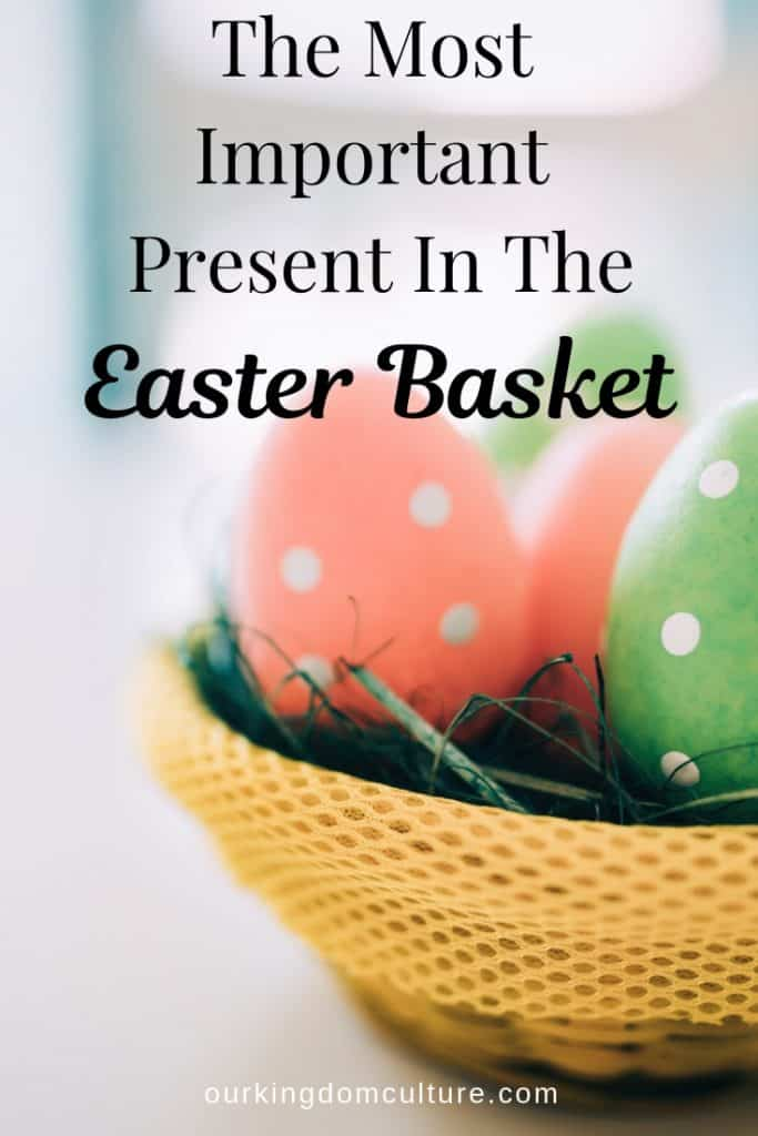 An Easter basket full of Easter eggs and toys, what else can be missing?