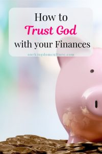 Learn how to go from worry to complete trust on God for your finances.