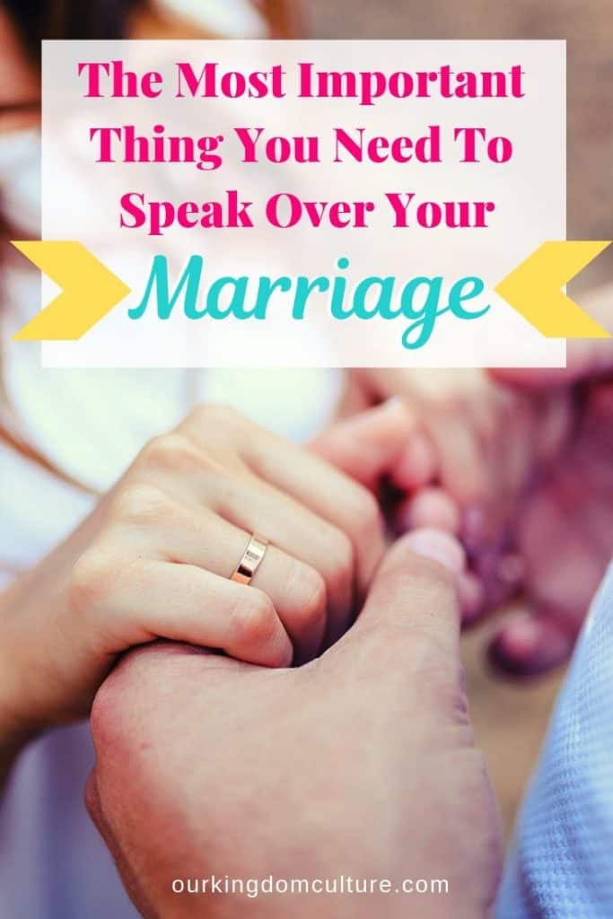 Life and death are in the power of the tongue. Are you speaking life over your marriage?