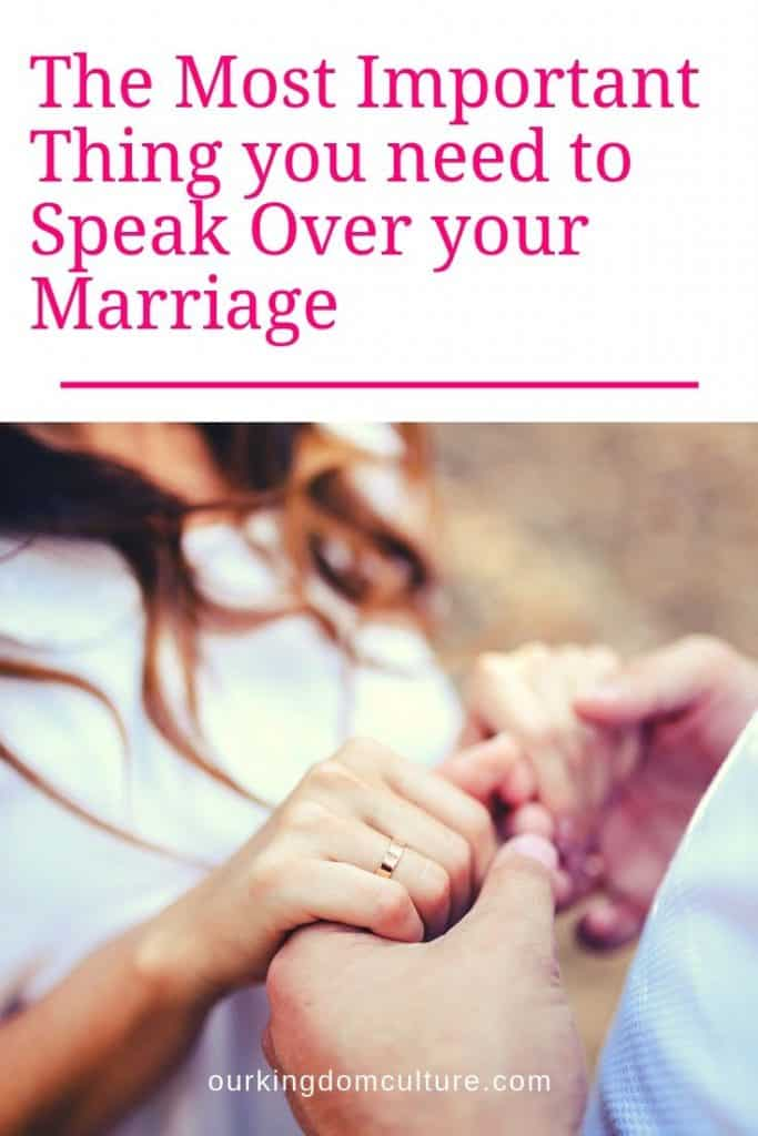 We can bring life into our marriages or we can bring death with the words we speak