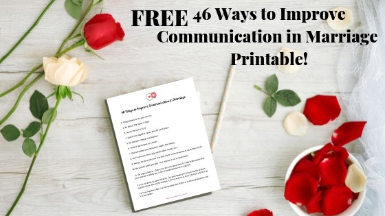 Free printable that will help you improve communication in your marriage