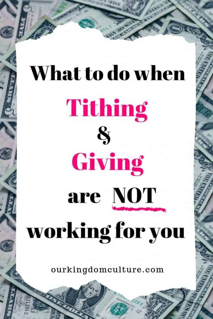 Find out why tithing and giving are not working for you and how to fix the problem