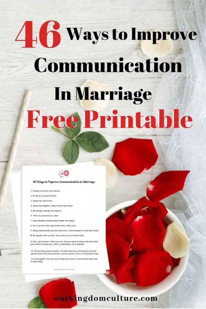 Free Printable that will help you improve communication in your marriage.