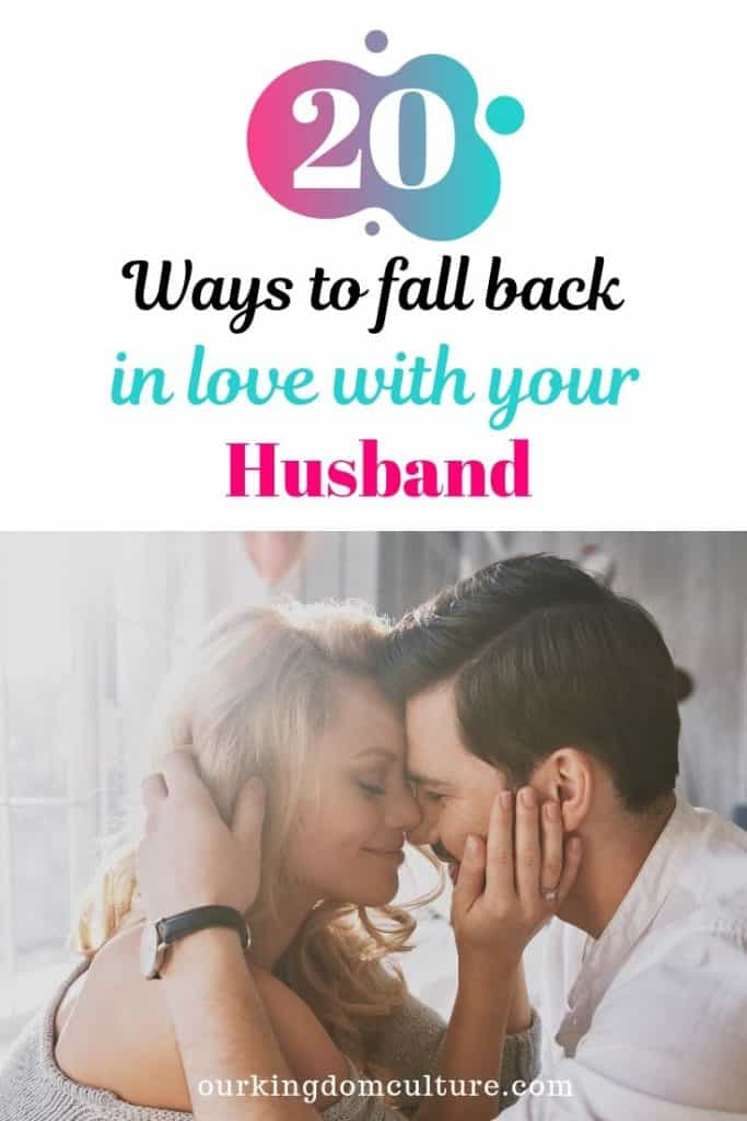 It happens more than you think. These 20 steps will help your to fall back in love with your husband because your marriage is worth fighting for! #fallbackinlove, #husband, #marriageproblems