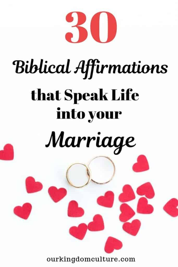 What have you speaking into your marriage? What are you speaking about your husband? These 30 affirmations will help change the way you speak about your marriage. #marriage, #marriageaffirmations, #marriageadvice