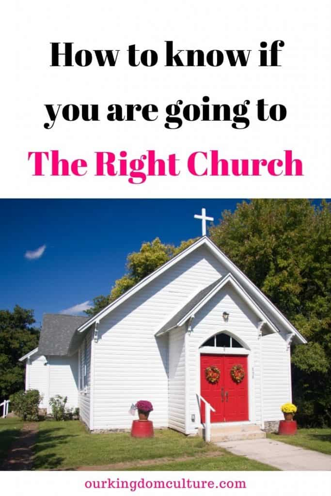 Are in the place where God wants you to be?How can you tell if you are going to the right church. #christianliving, #church