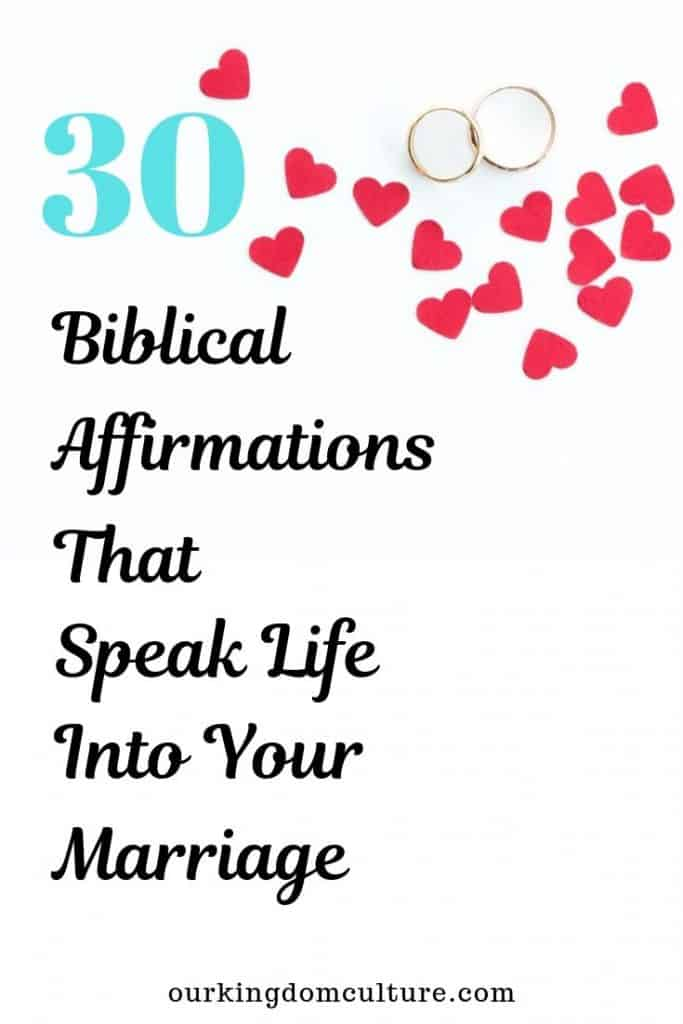 Change the direction of your marriage by using biblical affirmations
