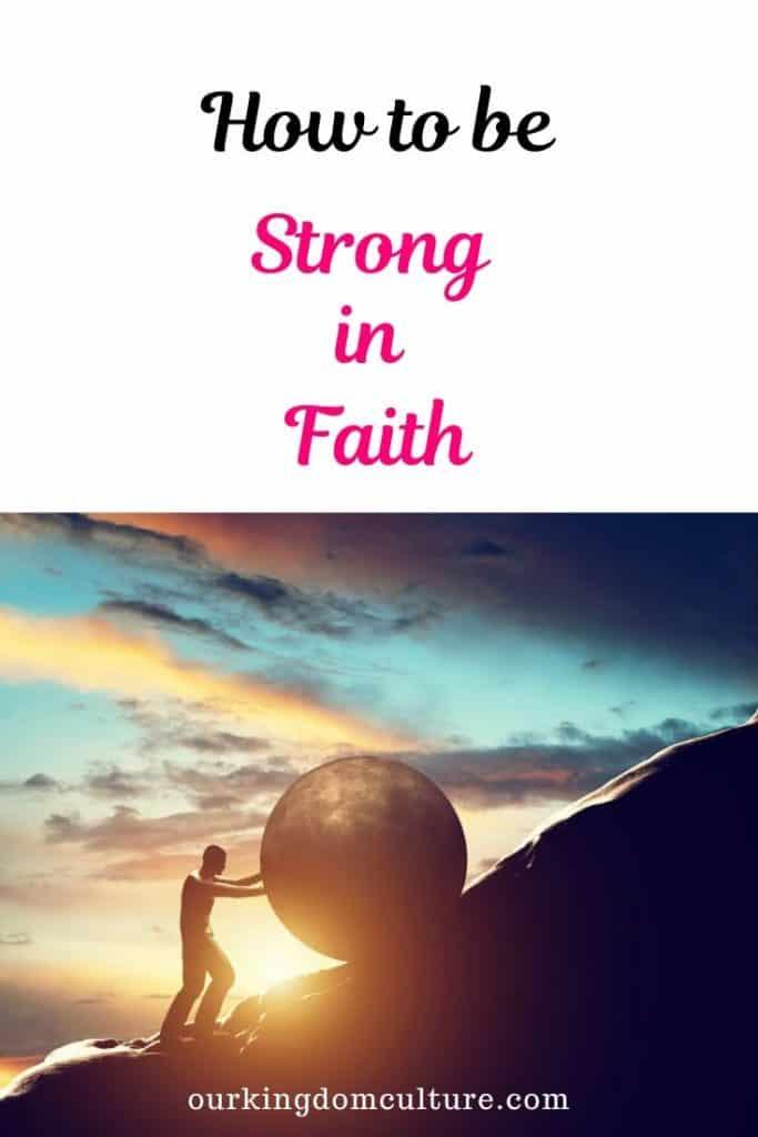 Learn how having a strong faith can help live a victorious christian life. We walk by faith and not by sight. #faith. #christian, #christianliving