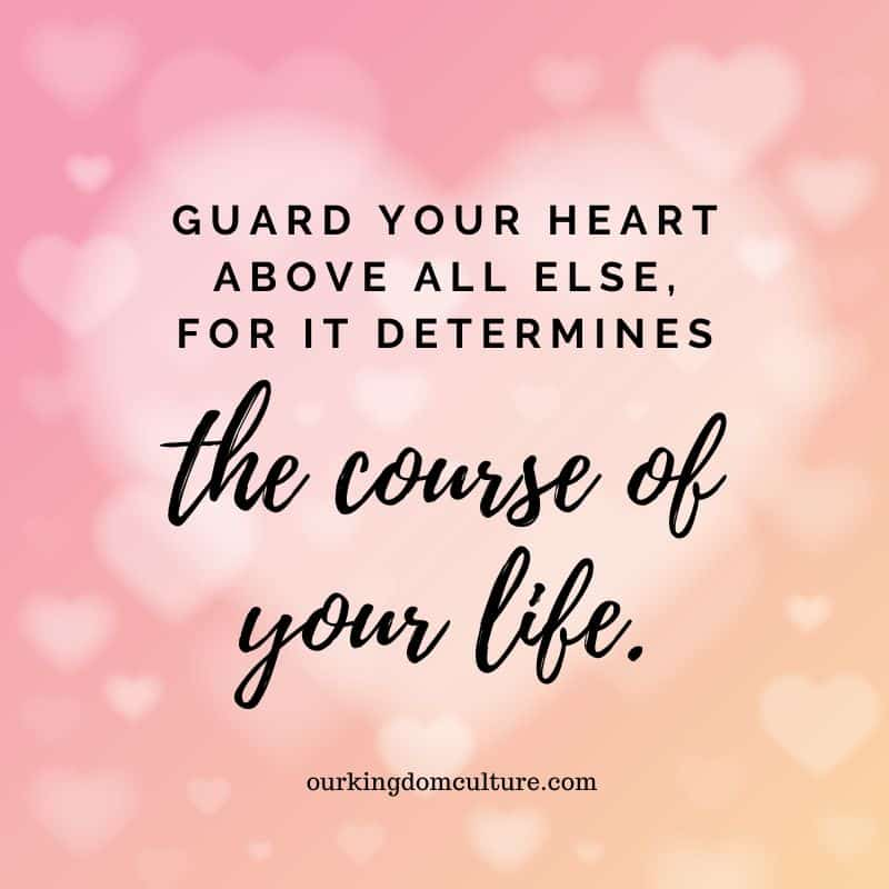 Guard your heart and mind bible scripture quote