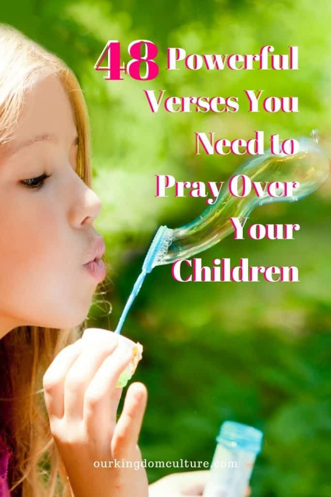 These verses will help you pray for your kid's according to The Word of God.