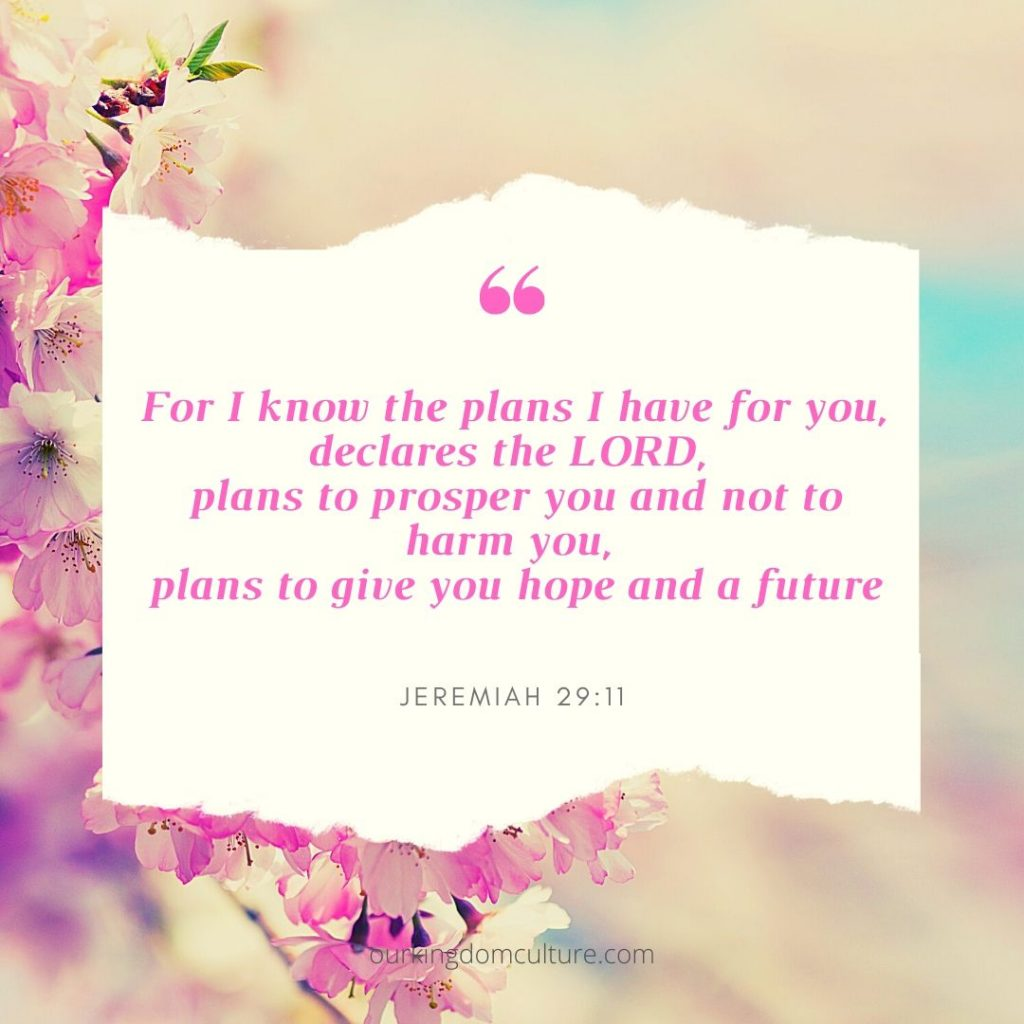 Bible verses about trusting God's plan