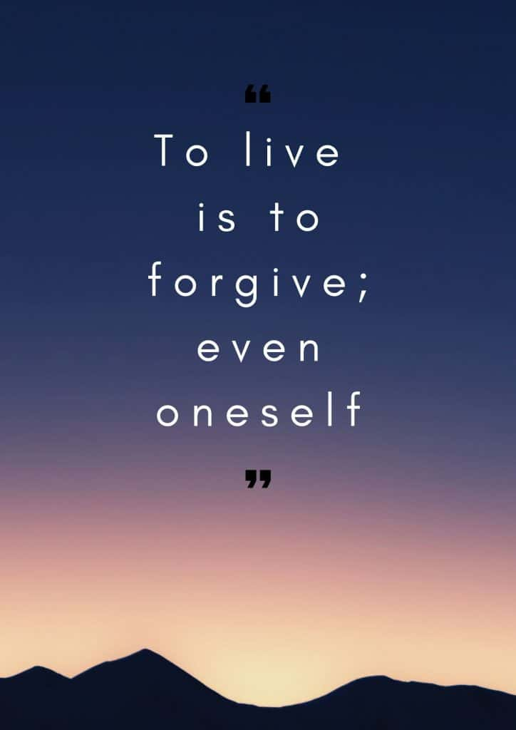 How to forgive yourself quote